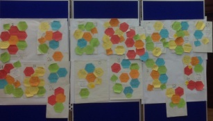 Clustering postits large scale